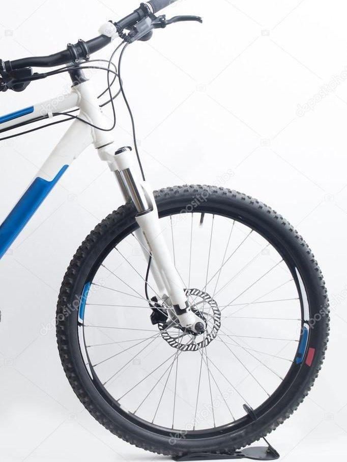 mountain bike frame and wheel