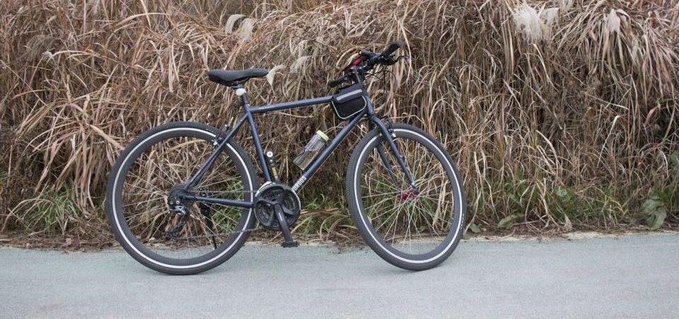 a hybrid bike on the road
