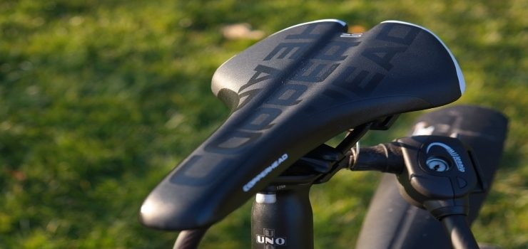 a seat of a road bicycle