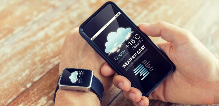 ver el clima en un teléfono celular