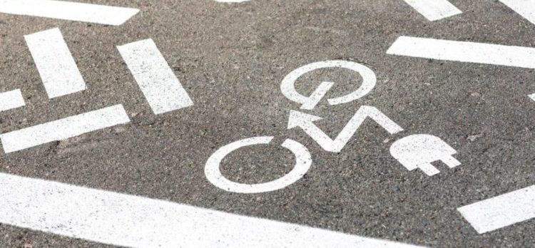 cycling lane for electric bikes on the street