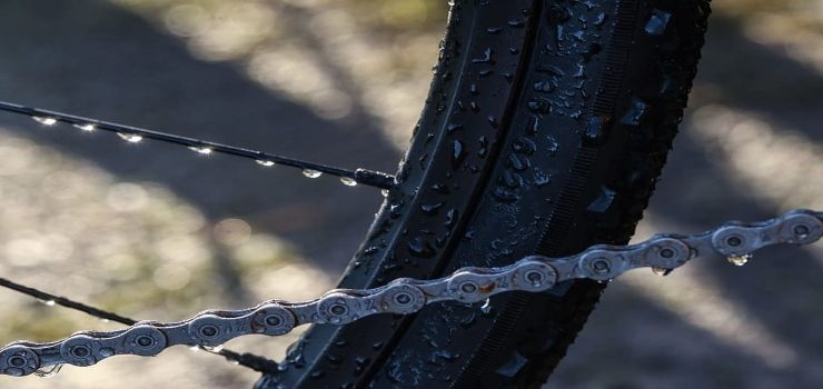 electric bike chain is wet