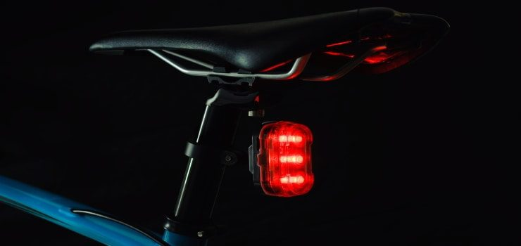 rear light of a mountain bike