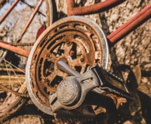 rust from a bike chain