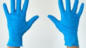 wear gloves for bike chain maintenance